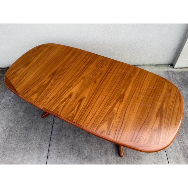 Mid-Century Expandable Teak Dining Table - Image 2 of 11