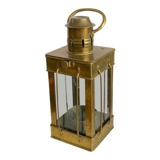 Vintage Marine Brass Lantern For Sale