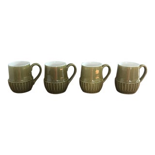 Mid-Century Glazed Mugs - Set of 4
