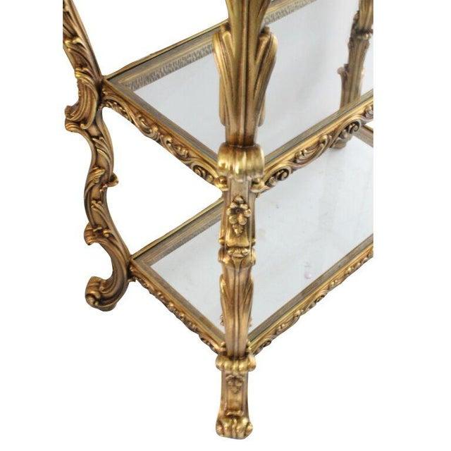 Ornate Ractangular Gilded Etagere - Image 3 of 3