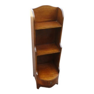 George III Mahogany Waterfall Bookcase With Brass Inlay For Sale