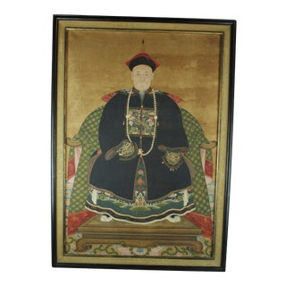 Early 20th Century Antique Chinese Ancestor Painting For Sale