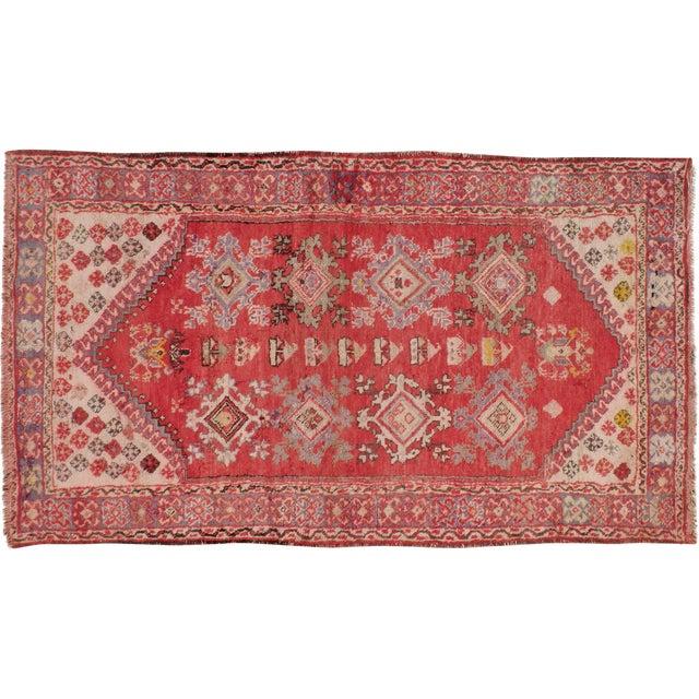 "Turkish Konya Vintage Rug - 3'5"" X 5'10"" - Image 1 of 3"