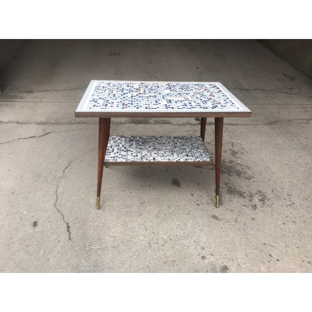 Vintage Mid-Century Modern Mosaic Tile Occasional Table For Sale - Image 9 of 9