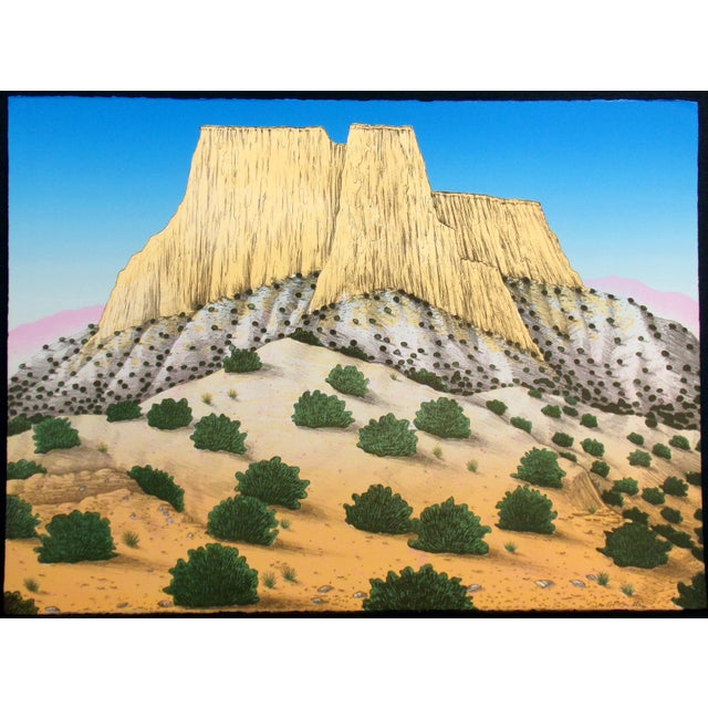 """1980s David Bradley """"Enchanted Mesa"""" Signed Limited Edition Lithograph Unframed For Sale - Image 5 of 5"""