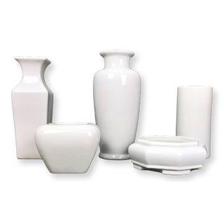 Vintage Late 20th Century Haeger Pottery Modernist Oriental Vessels - Set of 5 For Sale
