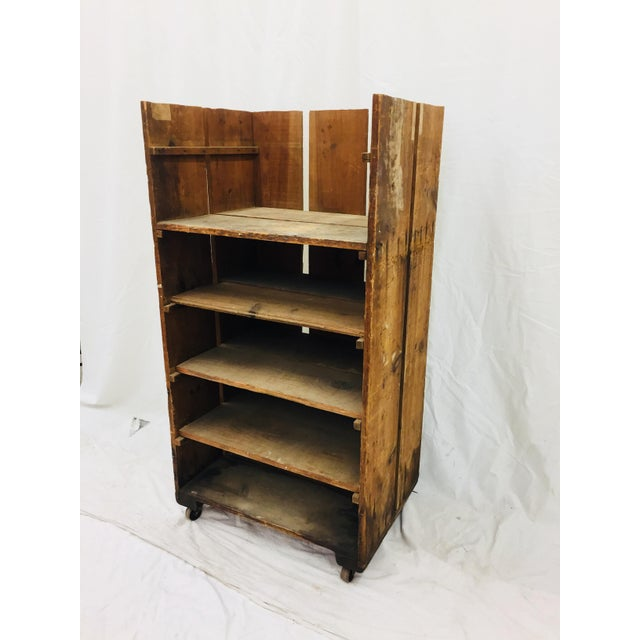 Antique Wood Factory Cart For Sale - Image 5 of 11