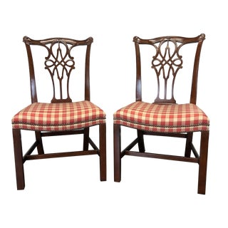Baker Stately Homes George III Dining Side Chairs - Pair 2 For Sale