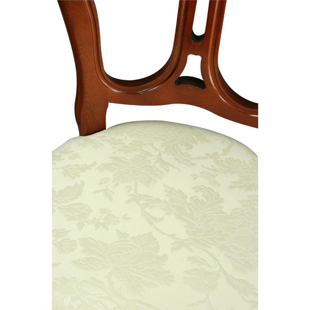 Italian Rococo-Style Mahogany Chair For Sale In Columbia, SC - Image 6 of 8