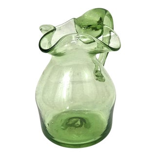 Blenko Blown Glass Pitcher