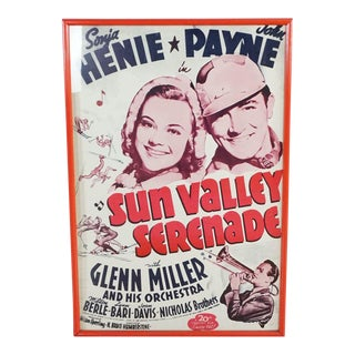 "Framed ""Sun Valley Serenade"" Poster For Sale"