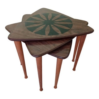1970s Tripod Stacking Tables - Set of 3 For Sale