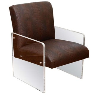 Modern Lucite Chair For Sale