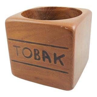 "1960s Scandinavian Sowe Sweden Teak ""Tobak"" Tobacco Jar For Sale"