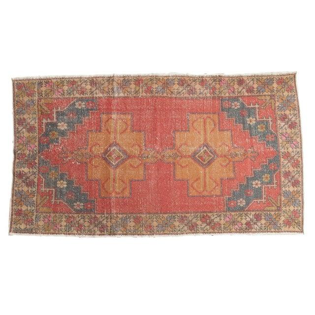 """Vintage Oushak Rug - 4'7"""" x 8'2"""" - Image 9 of 9"""