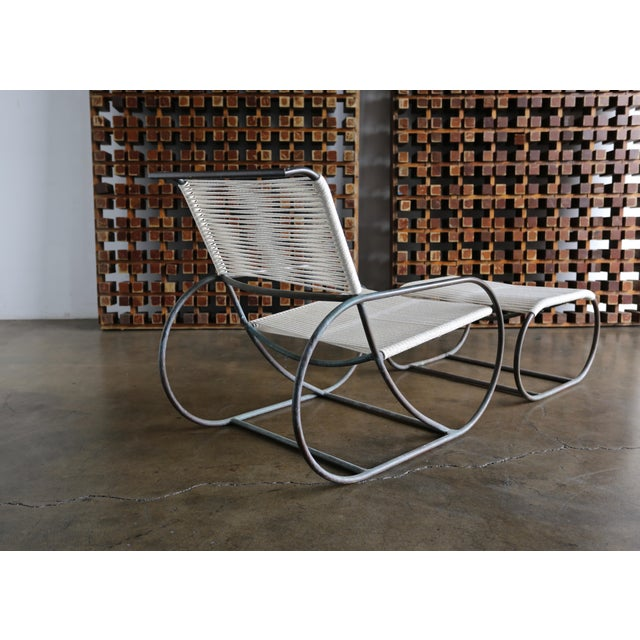 Mid-Century Modern Bronze Outdoor Lounge Chair and Ottoman by Kipp Stewart for Terra of California For Sale - Image 3 of 13