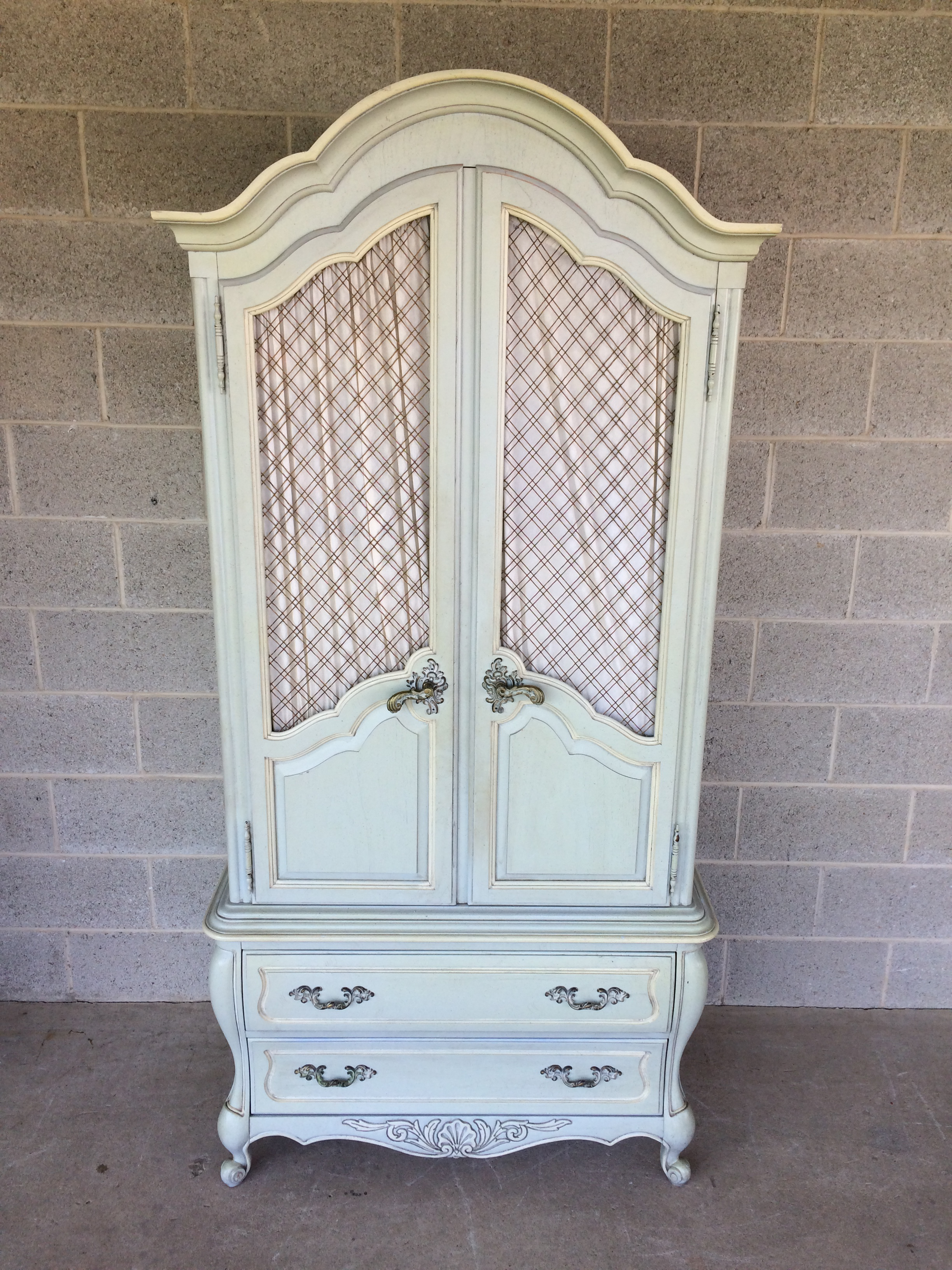 Genial Hickory White French Provincial Armoire   Image 2 Of 11