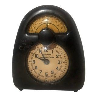 "Isamu Noguchi Hawkeye ""Measured Time"" Bakelite Desk Clock For Sale"