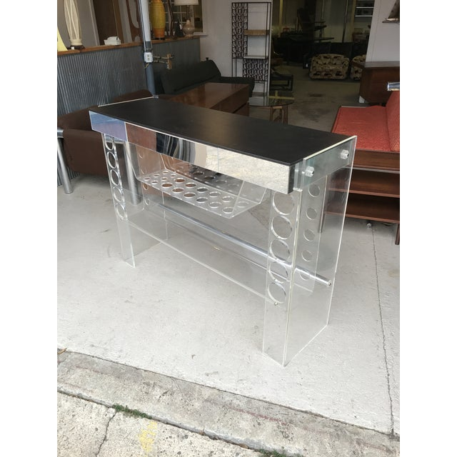 Black Lucite Ghost Bar Hill Manufacturing For Sale - Image 8 of 10