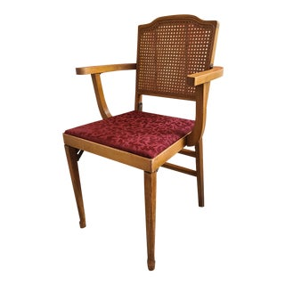 Mid-Century Modern Solid Wood Folding Chair With Arms For Sale