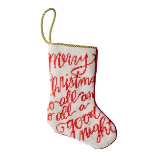 Merry Christmas Bauble Stocking