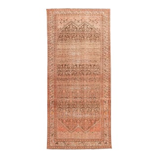 Antique Malayer Handmade Wool Runner For Sale