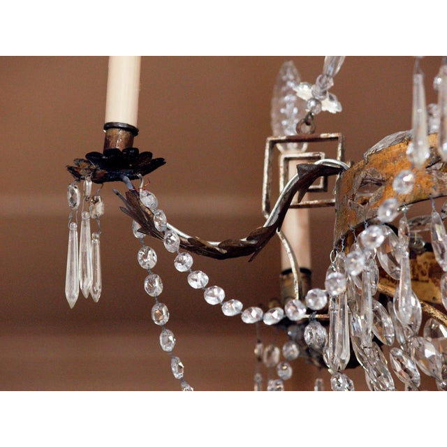 AN EARLY 19C TUSCAN CHANDELIER For Sale - Image 4 of 6