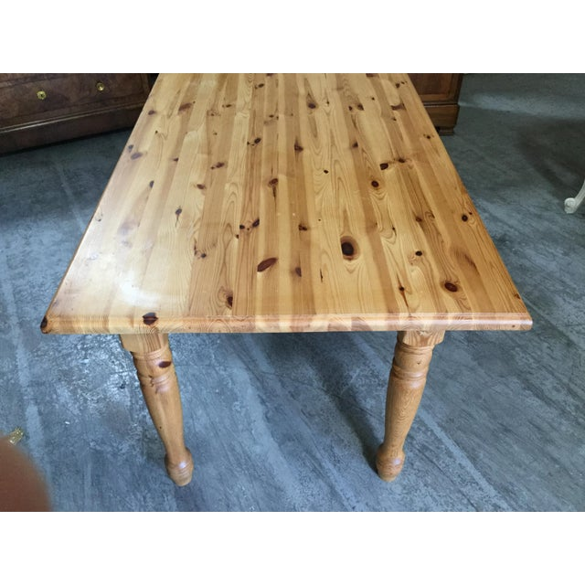 Vintage French Pine Farm Table For Sale In New York - Image 6 of 7