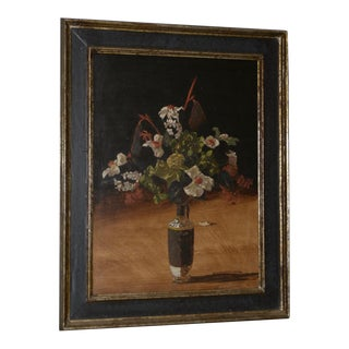 "Geoffrey Lewis (American, 20th C.) ""A Formal Affair"" Still Life Oil Painting C.1969 For Sale"