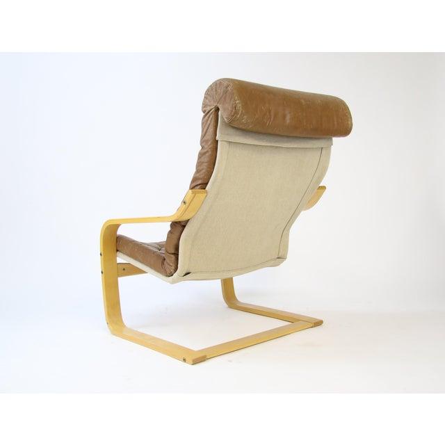 1970s Original Noburu Nakamura for Ikea Poem Chair For Sale In Phoenix - Image 6 of 9