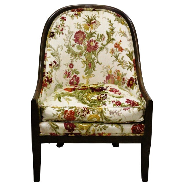 Baker Floral Tapestry Chair - Image 1 of 2