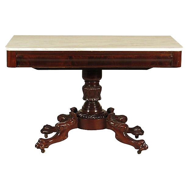 19th-C. American Classical Side Table - Image 1 of 6