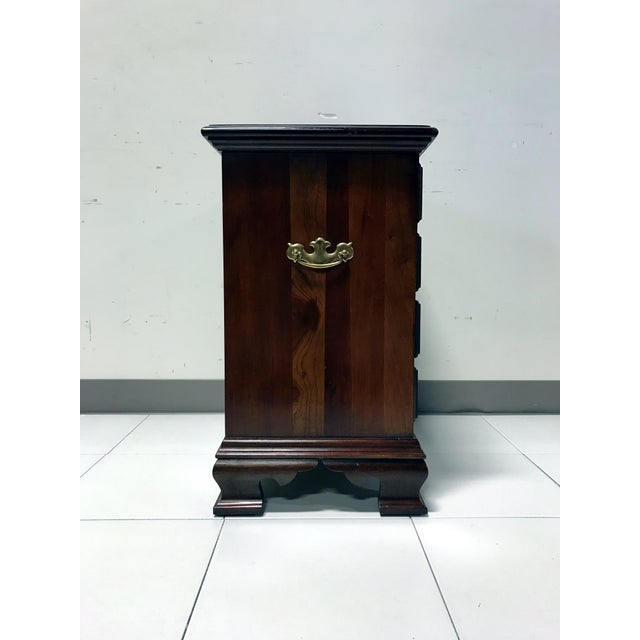JF Delwood Solid Cherry Chippendale Chairside Chest - Image 7 of 11