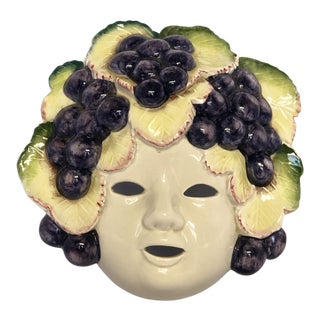 Fitz and Floyd Bacchus Ceramic Mask For Sale