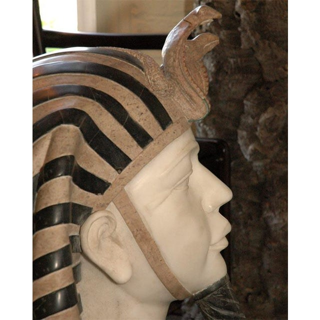 Marble Bust of Egyptian Pharaoh - Image 4 of 8