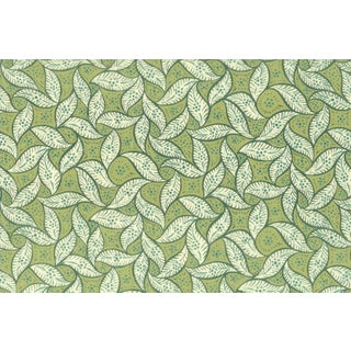 Vintage Bassett McNab Pistachio Leaf Wallpaper - 10 Yard Roll For Sale
