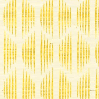 Sample - Schumacher X David Oliver Ovington Sisal Wallpaper in Yellow Preview