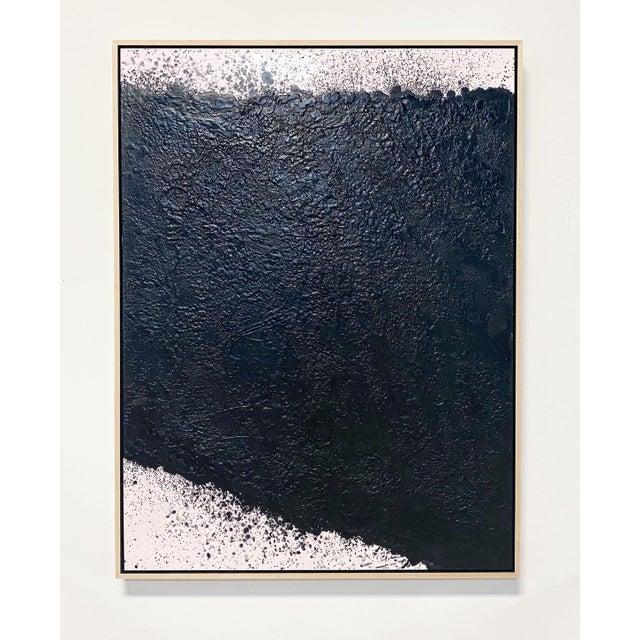"""Encaustic Exclusive John O'Hara """"Tar, 16"""" Encaustic Painting For Sale - Image 7 of 7"""
