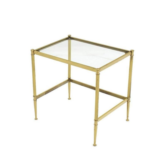 Set of Three Mid-Century Modern Brass Nesting End Tables For Sale In New York - Image 6 of 9