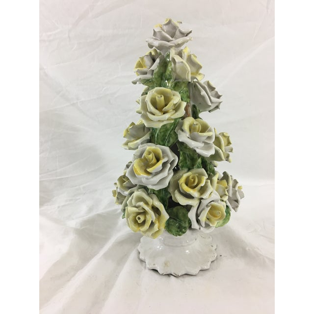 This lovely Italian sculpture is a sweet accent piece or centerpiece, perfect for the center of the table or accenting a...