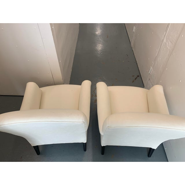 Contemporary Williams Sonoma Home Upholstered Occasional Chairs - a Pair For Sale - Image 10 of 11