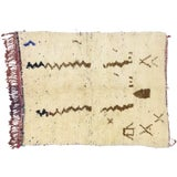 Image of Vintage Berber Moroccan Azilal Rug - 03'07 X 04'09 For Sale