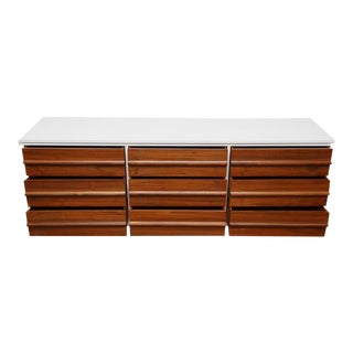Vic Art Credenza in Natural and White Lacquer, 1960s For Sale