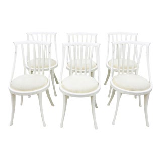 Set Vintage Poltrona Frau Dining Chairs For Sale