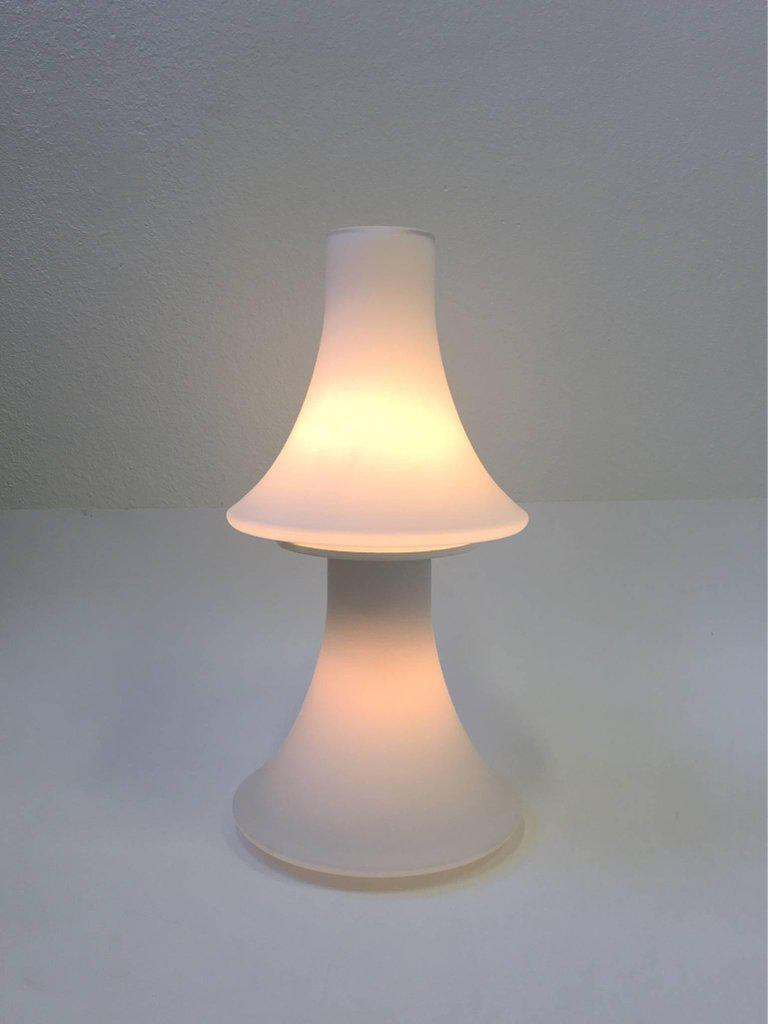 White Frosted Glass Table Lamp By Laurel Lamps   Image 3 Of 8
