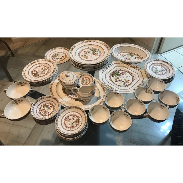 1940s Vintage Copeland Spode Cowslip China Set - 63 Pieces For Sale - Image 11 of 13
