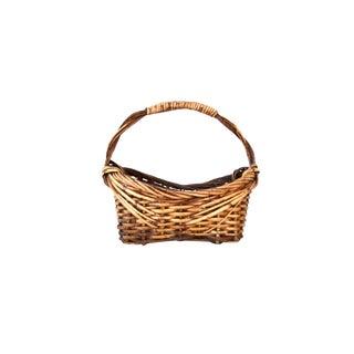 Vintage Handle Basket For Sale
