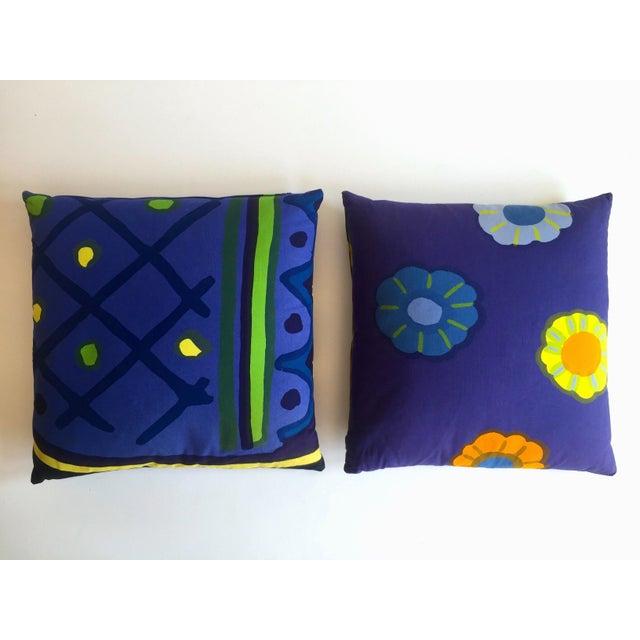 Marimekko Rare Vintage 1960\'s Scandinavian Mid Century Modern Throw Pillows  - Set of 2