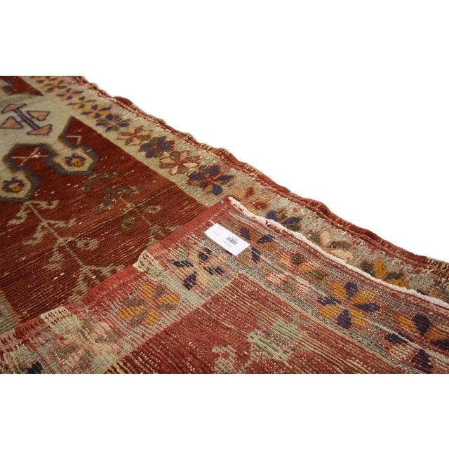 Early 20th Century Antique Turkish Oushak Runner - 02'00 X 08'07 For Sale - Image 5 of 7