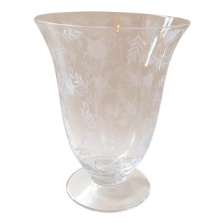Fostoria Chintz Depression Glass Vase For Sale